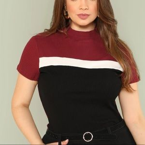 Plus Size Ribbed Turtleneck Top!